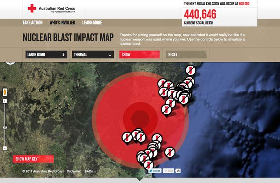 Nuclear blast radiation demo screen