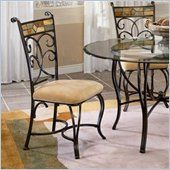 Hillsdale Pompeii Nesting Table in Black Gold with Slate Mosaic Top - 61713