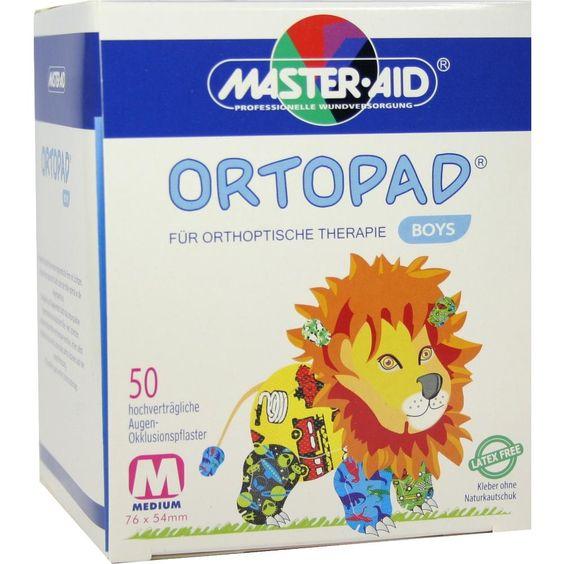 ORTOPAD for boys medium Augenokklusionspflaster:   Packungsinhalt: 50 St Pflaster PZN: 00215031 Hersteller: Trusetal Verbandstoffwerk…