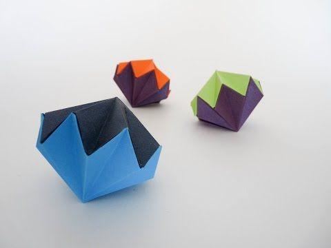 Adorno navideño origami - YouTube
