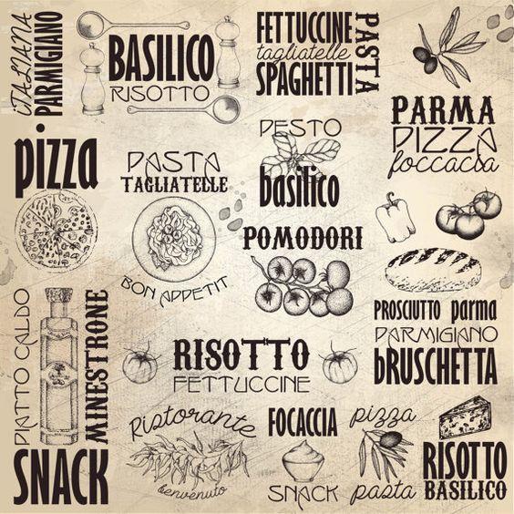 Kitchen Print Italy Menuitalian Subway By
