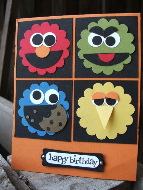 Sesame Street card: Sesame Street, Kids Cards, Birthday Cards, Street Character, Street Card, Card Ideas, Cards Kids