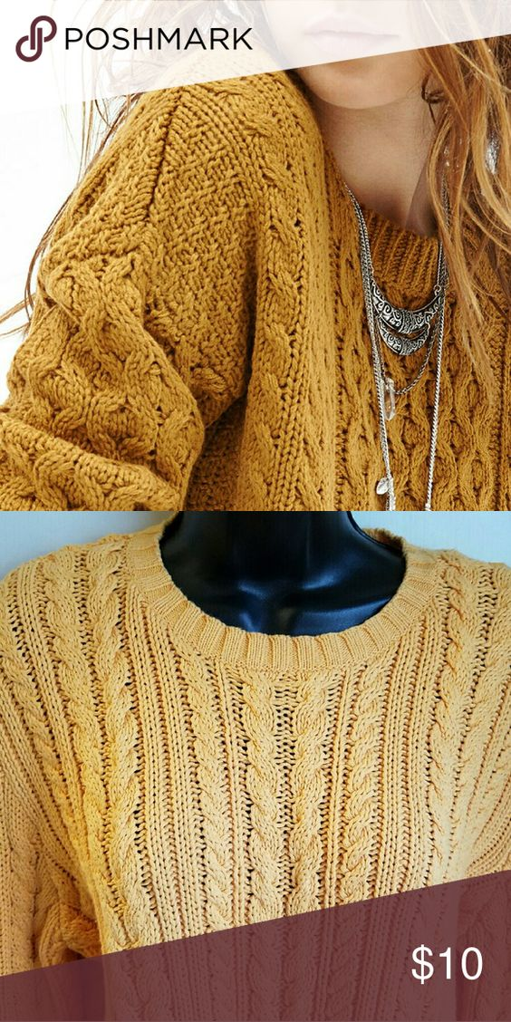 J.CREW 100% Cotton Chunky Cable Knit Sweater | Cable, Colors and Signs