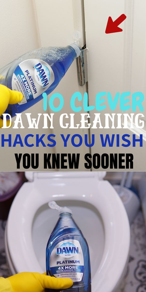 Dawn dish soap household and cleaning tips, tricks, and hacks. #cleaningtips #householdtips #cleaninghacks #householdhacks
