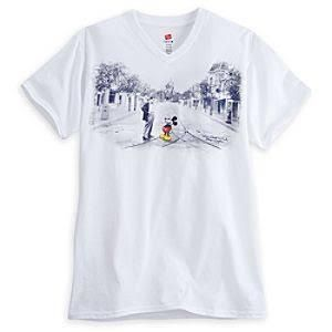 Mickey Mouse and Walt Disney V-Neck Tee for Adults - Walt Disney World-L - Brought to you by Avarsha.com