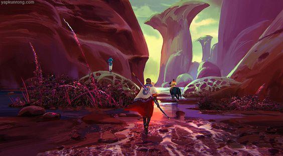 A Strange Land by Kunrong Yap   Fantasy   2D   CGSociety