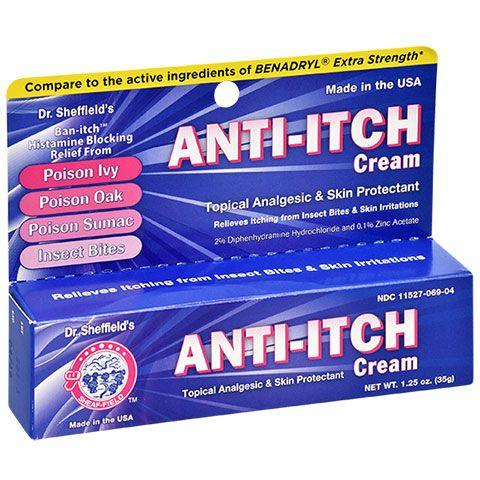 Dr Sheffield S Anti Itch Cream 1 25 Oz Tubes Anti Itch Cream
