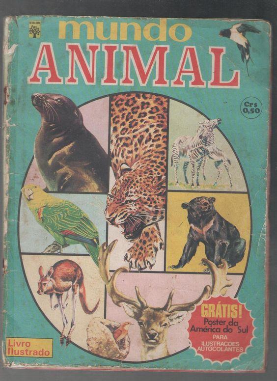 """Álbum de figurinhas """"Mundo Animal"""""""