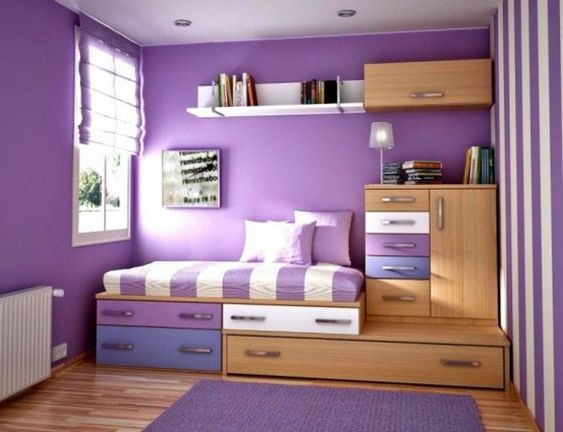 zimmergestaltung farbgestaltung m dchen m jugendzimmer lila wand kinderzimmer ideen. Black Bedroom Furniture Sets. Home Design Ideas