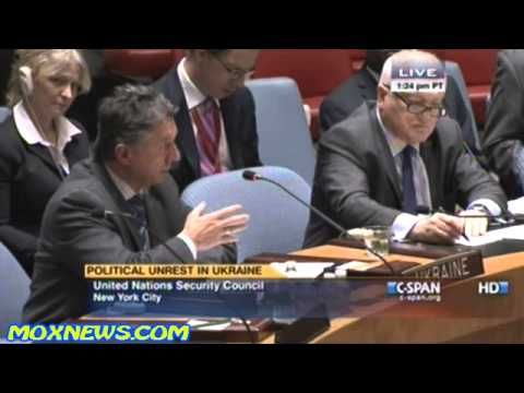 Ukrainian Ambassador At United Nations Security Council Meeting On Russi...