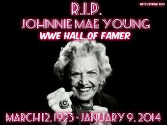 """( 2016 IN MEMORY OF Divas of WWE ★ †  MAE YOUNG ) ★ † Johnnie Mae Young - Monday, March 12, 1923 - 5' 3"""" - Sand Springs, Oklahoma, USA. Died: Tuesday, January 14, 2014 (aged of 90) - Columbia, South Carolina, USA. """"The Wrestling Divas of WWE."""" Johnnie Mae Young one of the best wwe divas of all time she was 90 year old now we she will miss one if my wrestle Lengend"""""""