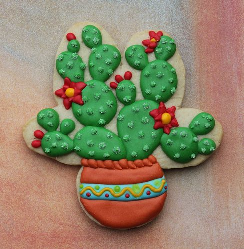 Prickly Pear Cactus Cookie | Believe it or not - this was ma… | Flickr