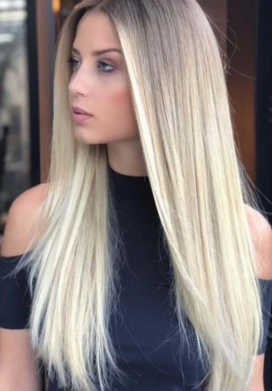 16 Hairstyles Long Straight Blonde Straight Blonde Hair Long Hair Styles Blonde Hair Color
