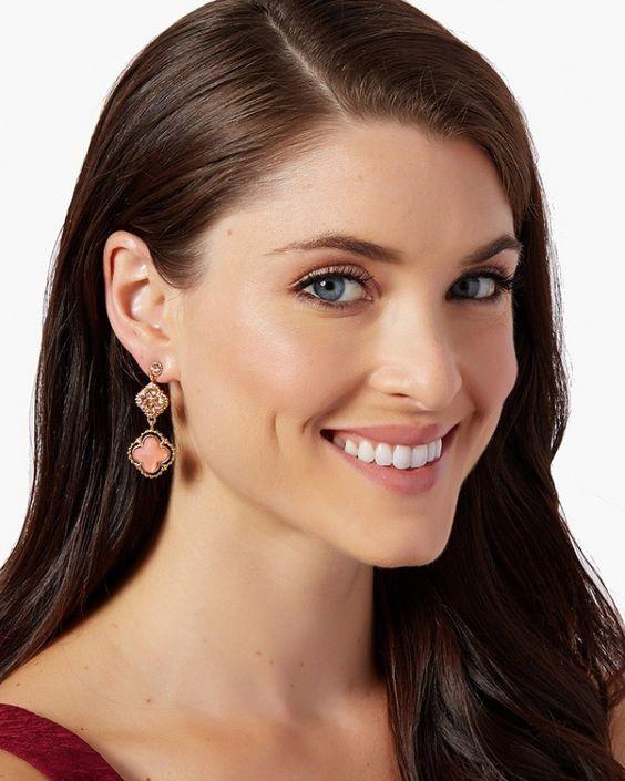 charming charlie | Quatrefoil Queen Earrings | UPC: 410007149280 #charmingcharlie