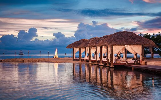 Experience the incredible waterside cabanas with romantic views along the best stretch of Negril's famed Seven Mile Beach  #SandalsNegril