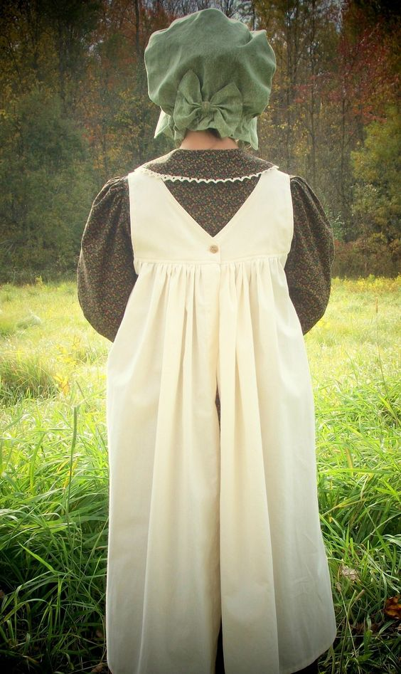Pioneer Dress with Pinafore and Bonnet Sizes 2-12  Girls Dresses ...