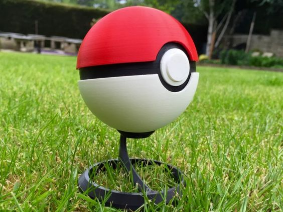PokeBall - Fully Functional with Button and Hinge by MrFozzie - Thingiverse