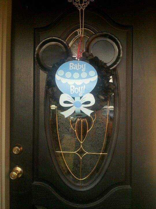 Mickey mouse baby shower door decoration my creations for Baby shower door decoration