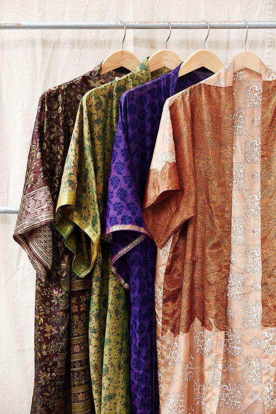 Urban Renewal Pieced Sari Kimono Jacket - Urban Outfitters