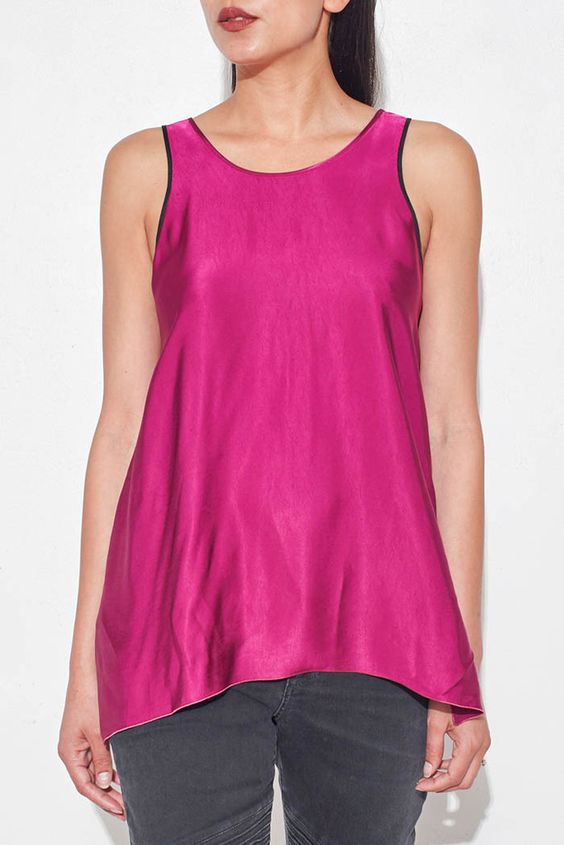 Fucsia Satin Tank From ShopHeist.com!