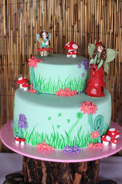 Incredible cake at an Enchanted Fairy birthday party!  See more party ideas at CatchMyParty.com!