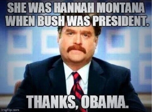 Hilarious! LMAO! EVERYTHING is Obama's fault! I got up too late to eat breakfast this morning. I BLAME OBAMA!