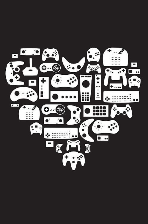 Imagen de game, heart, and geek
