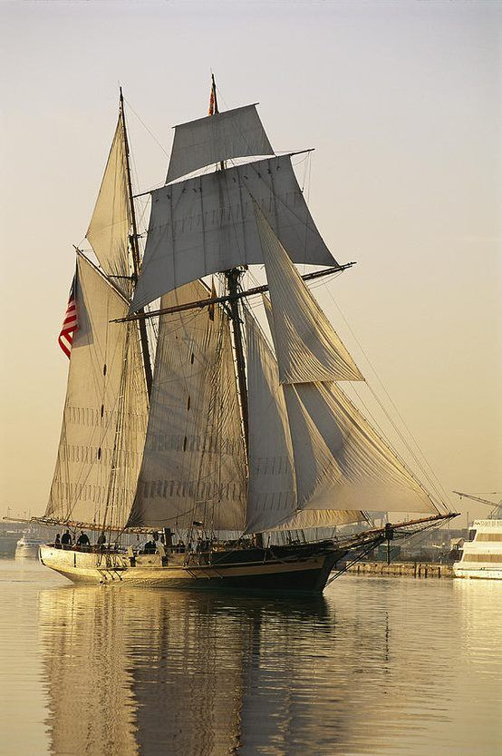 The Pride Of Baltimore Clipper Ship Canvas Print / Canvas Art by George Grall