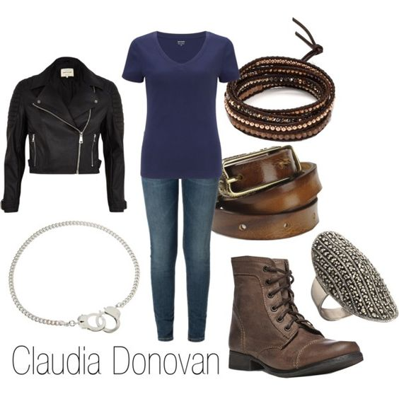Claudia Donovan by ja-vy on Polyvore featuring polyvore, fashion, style, John Lewis, River Island, Steve Madden, Chan Luu, Bee Charming and Diesel