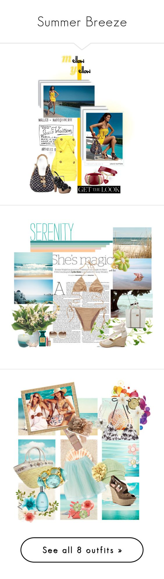 """Summer Breeze"" by scandalicious ❤ liked on Polyvore featuring Louis Vuitton, get the look louis vuitton summer 2010 louis vuitton women sandals, Nicole, Sonoma life + style, Tom Ford, Dolce&Gabbana, BUBA, Glam Rock, Heidi Klein and Marc Jacobs"
