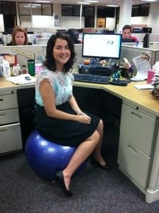 Want to use a stability ball for an office chair Check out these ergonomics tips