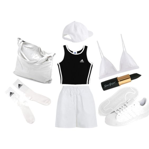Adidas. by vintagedollrisa on Polyvore featuring adidas, Zimmermann, T By Alexander Wang, adidas Originals and chissene