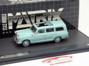 Mercedes-Benz Binz W120 Kombi Year 1960 blue 1:43 Matrix