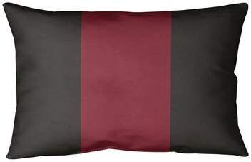 Arizona Hockey Indoor Outdoor Striped Lumbar Pillow East Urban Home Color Brick Red Desert Sand Brick