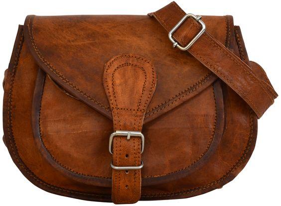 """Die Handtasche """"Romy"""" aus Leder ist der perfekte Freizeitbegleiter - Lederhandtasche - Vintage-Look - Gusti Leder - M23"""
