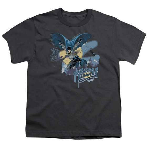 BATMAN/INTO THE NIGHT - S/S YOUTH 18/1 - CHARCOAL -