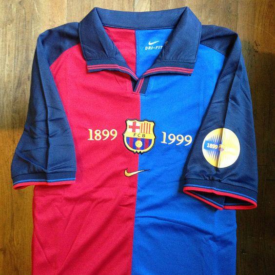 1999-2000 FC Barcelona Home Jersey // Primera equipació del FC Barcelona per a…