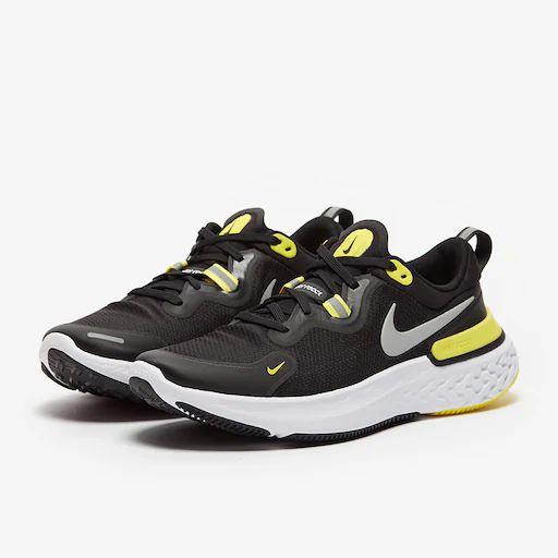 Nike React Miler - Noir/Argent-Jaune Optique-Blanc - Running ...