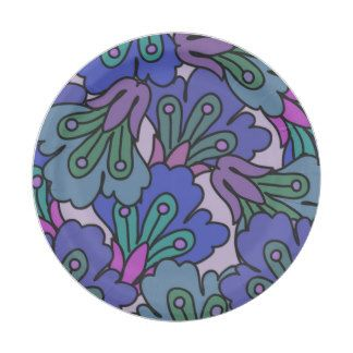 allover jac blue 7 inch paper plate