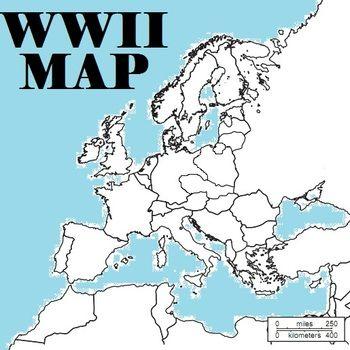 World War 2 Blank Map