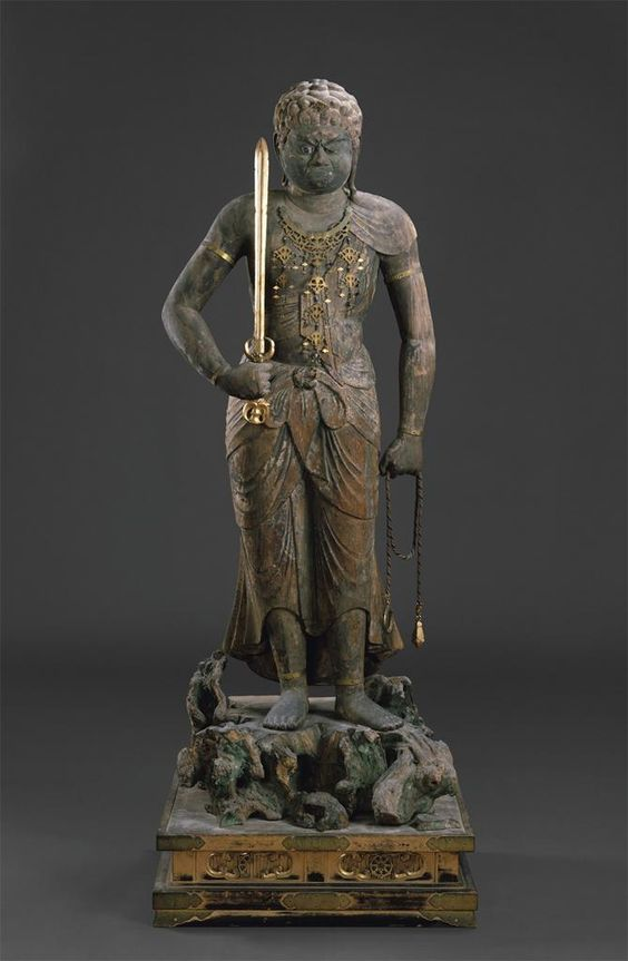 Wisdom King Fudo statute from the Heian Period in Japan.