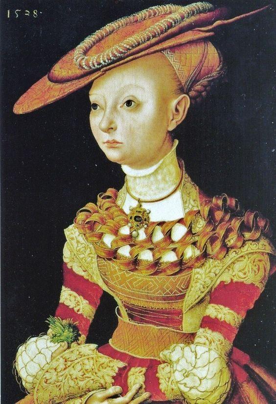 Direct link from Pinterest - Portrait of a woman, 1528, Lucas Cranach