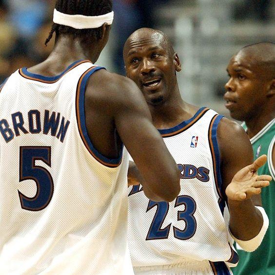 Kwame Brown & Michael Jordan