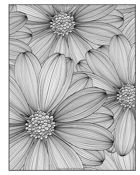 Flores …   dibujos   Pinterest   Colorante, Libros para colorear y Flor