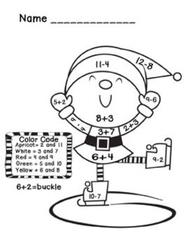 Addition and Subtraction Christmas Math Coloring Sheets | Math ...