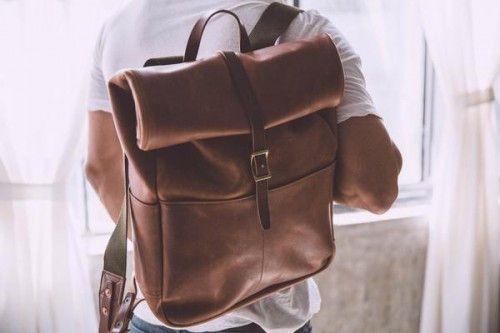 Backpacks – Roll Top Backpack Trekking Bag, Weekend Bag, Bag. – a unique product by TheHumanEra on DaWanda