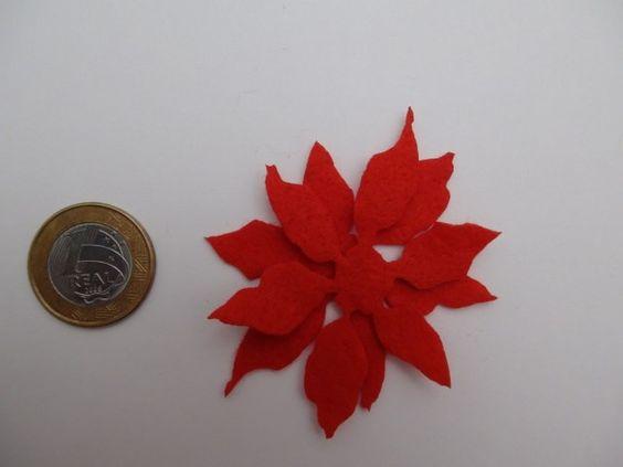 flor de natal em feltro - Pesquisa Google