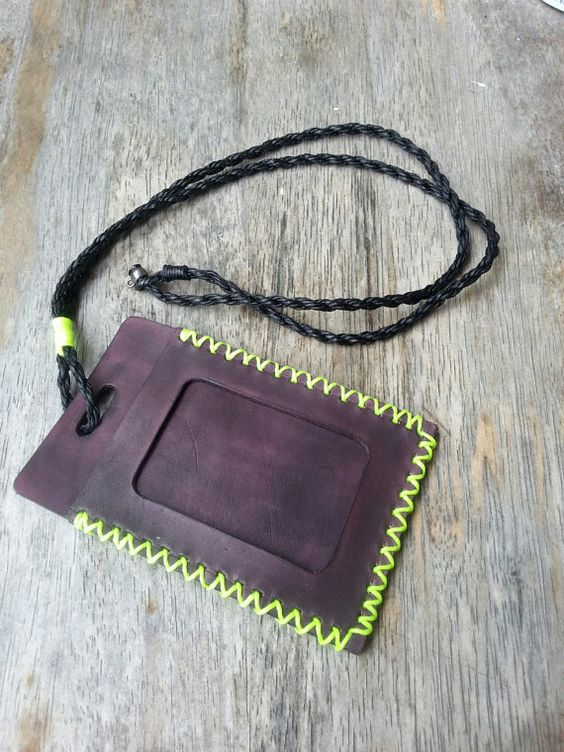 Leather ID Card Holder ID Card Holder Leather by StarlightHandmade