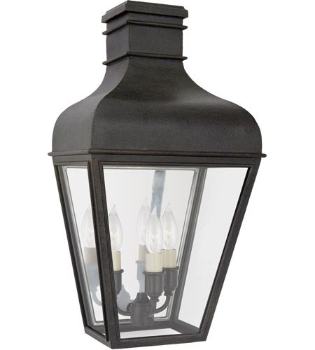 Visual Comfort Cho2164fr Cg Chapman Myers Fremont 3 Light 18 Inch French Rust Outdoor Wall Lantern Small Wall Lantern Outdoor Wall Lighting Visual Comfort