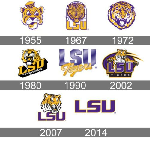 Lsu Logo History Lsu Tigers Football College Logo Lsu